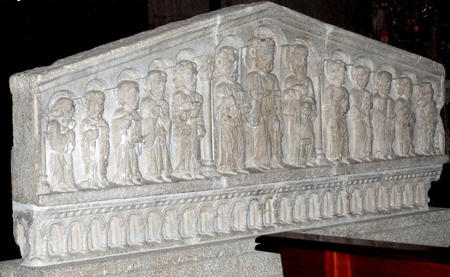 retablo piedra iglesia Santo Estevo de Ribas de Sil - Ribeira Sacra